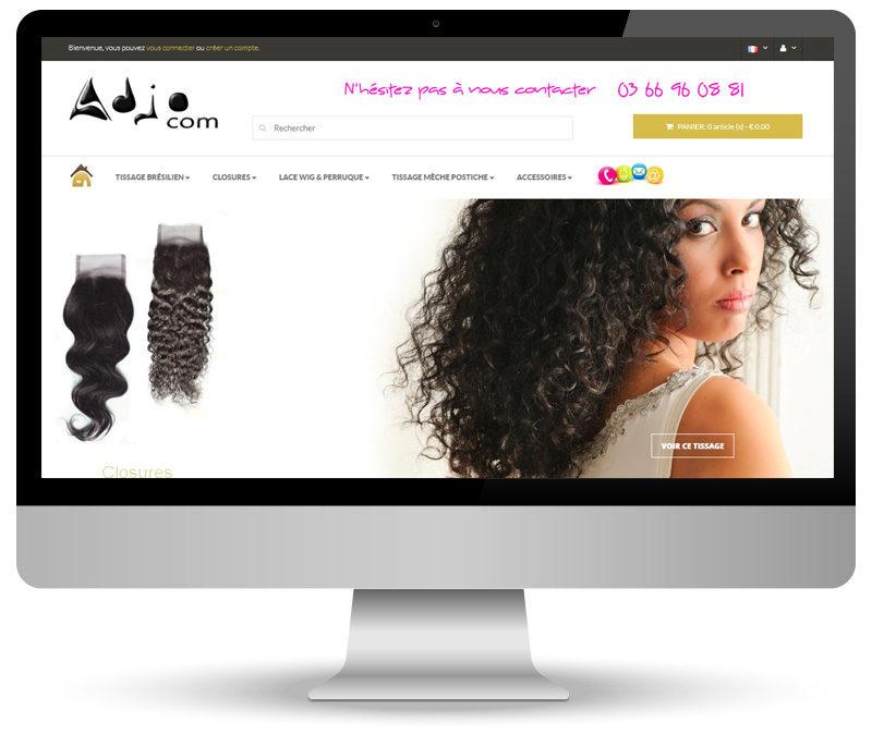 Adjocom – site e-commerce