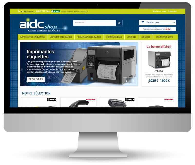 aidcShop – site e-commerce