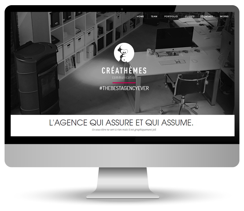 Créathèmes communication - site vitrine