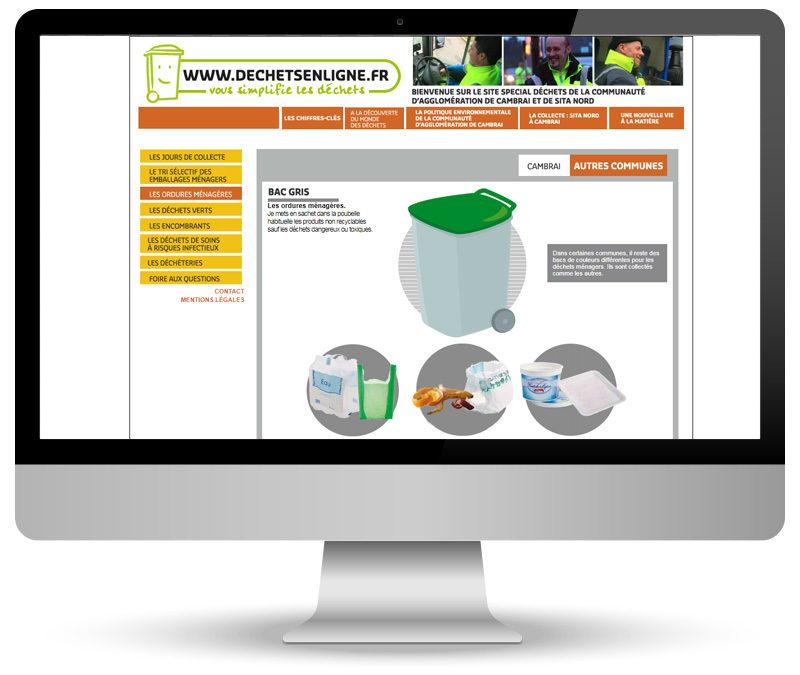 Site vitrine pour Déchets en ligne