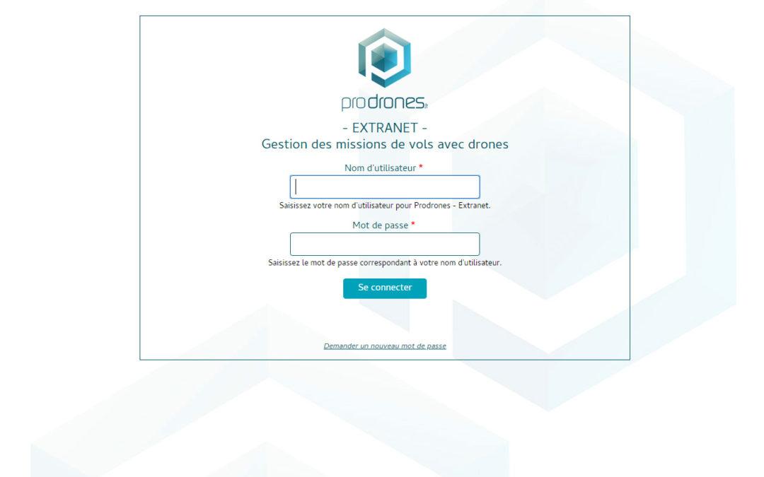 Réalisation site extranet Drupal pour Prodrones