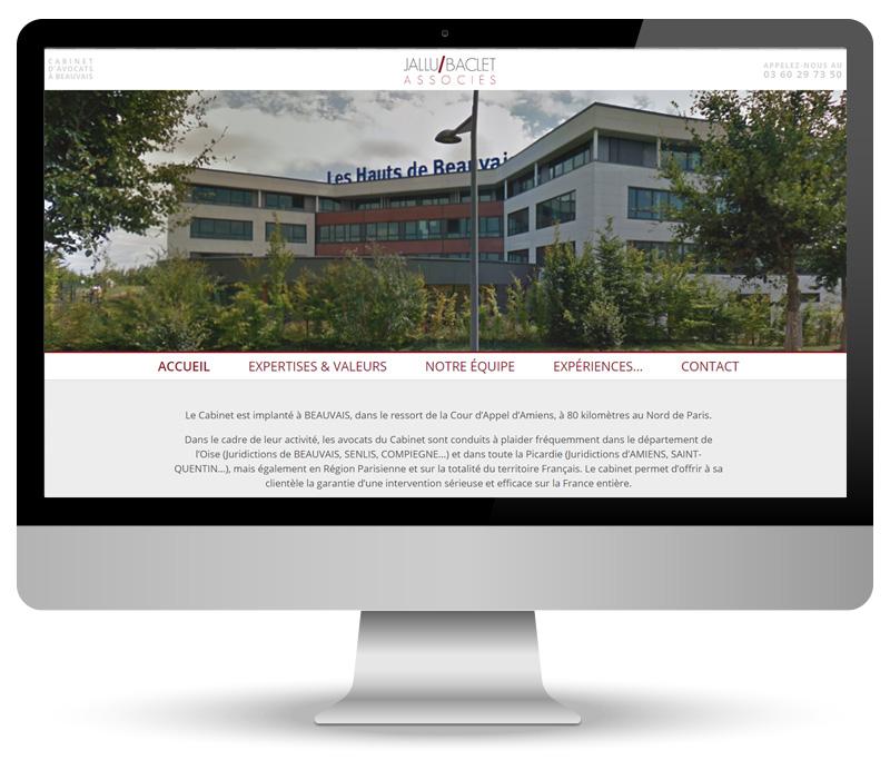 Réalisation site vitrine pour JALLU-BACLET