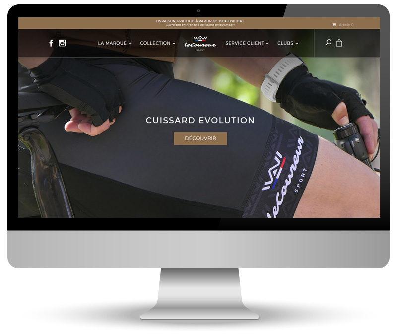 Réalisation site e-commerce pour Le Coureur Sport