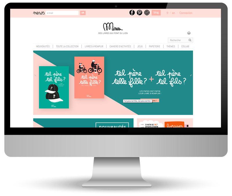 Webmastering de site e-commerce pour Minus Editions