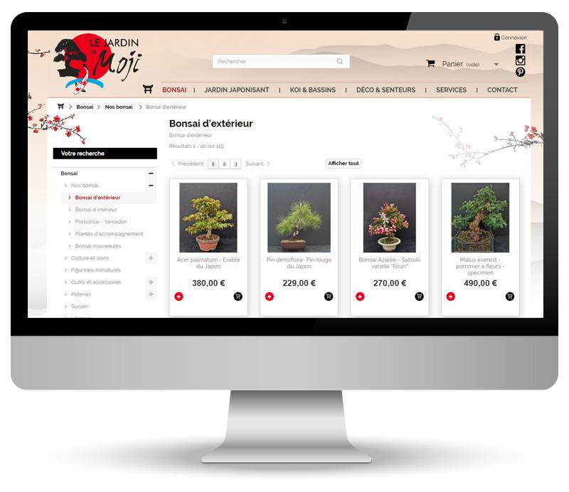 Le jardin de Moji - site e-commerce