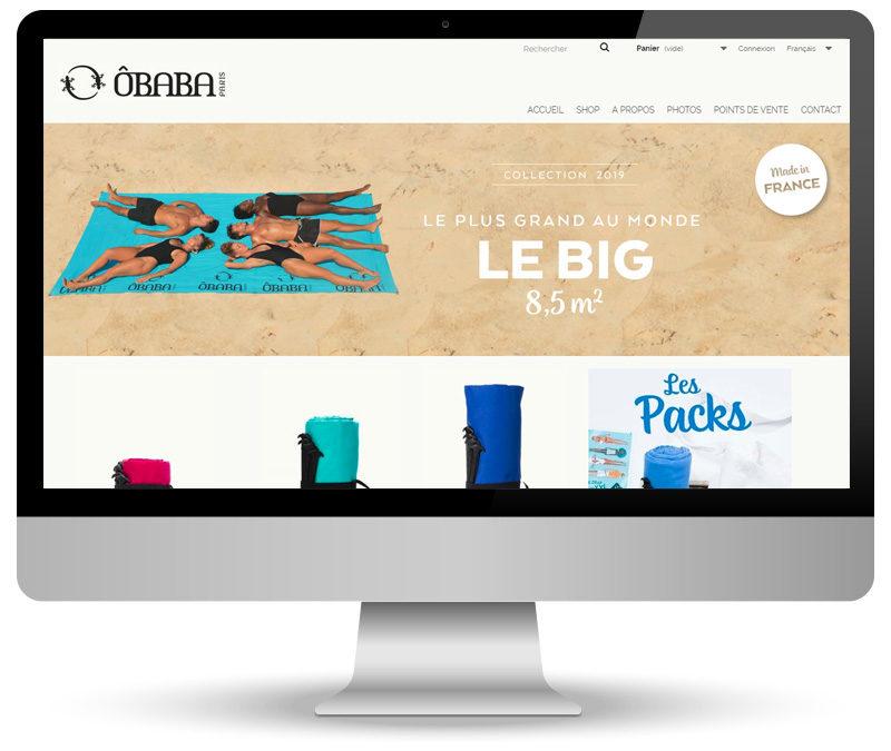 Webmastering de site e-commerce pour ÔBABA Paris