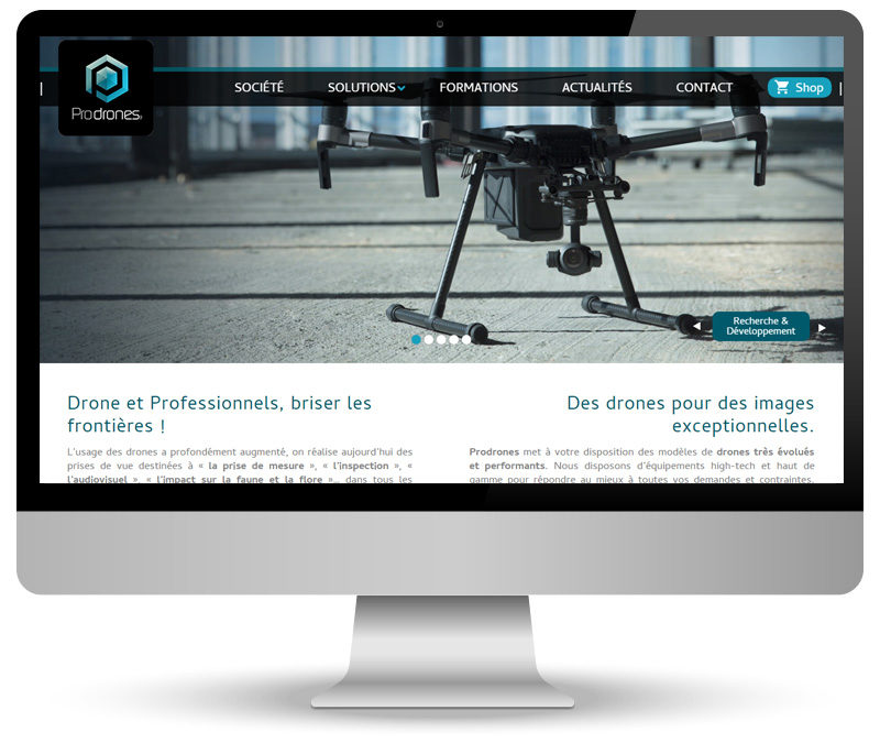 Réalisation site internet pour Prodrones