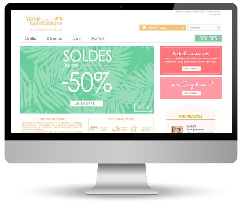 Création site e-commerce pour Range Ta Chambre