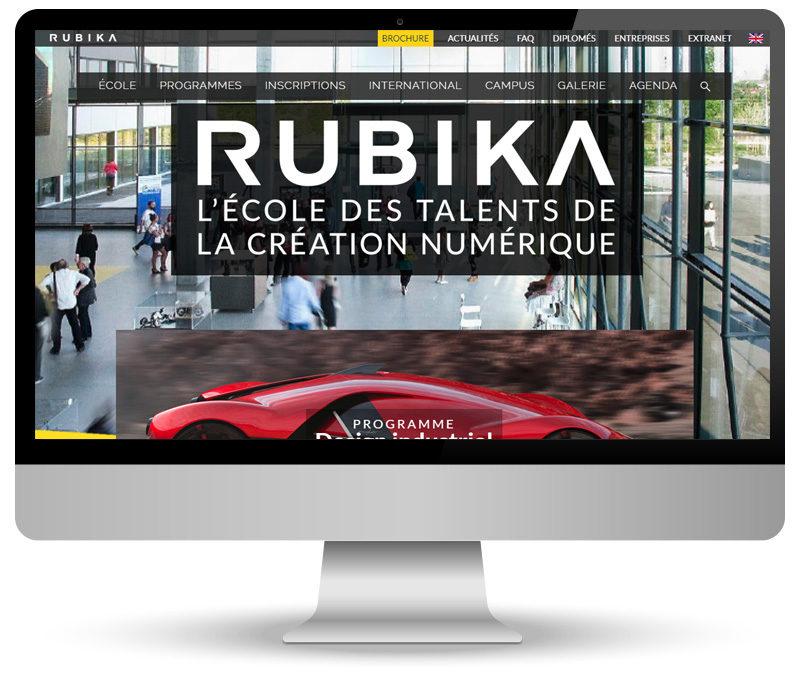 Réalisation site internet pour Rubika