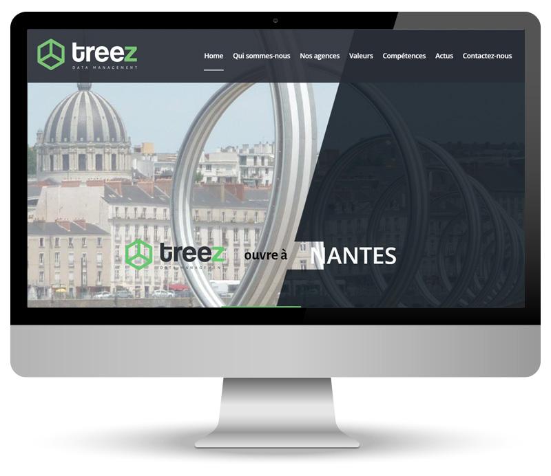 Réalisation site vitrine pour Treez Data