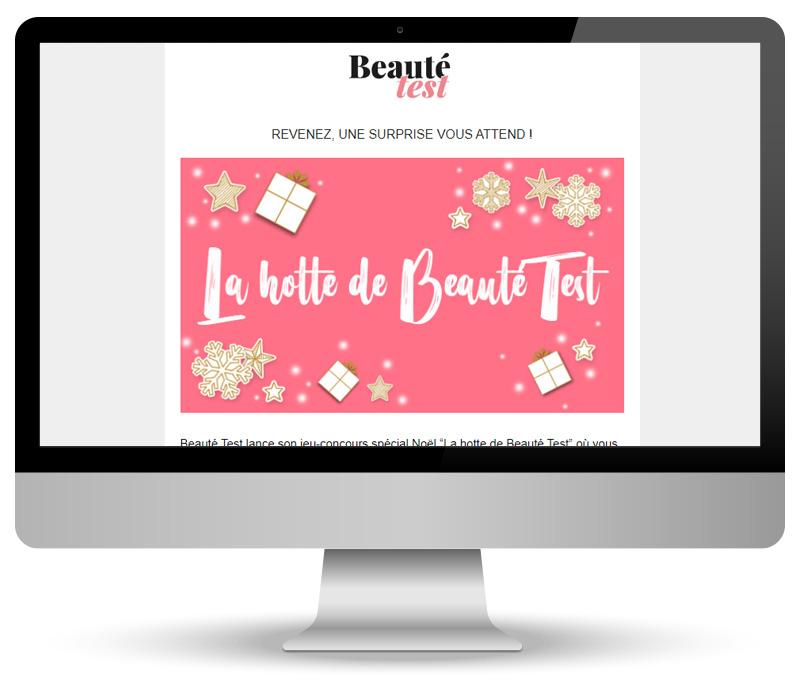 Template d'emailing pour Beauté Test