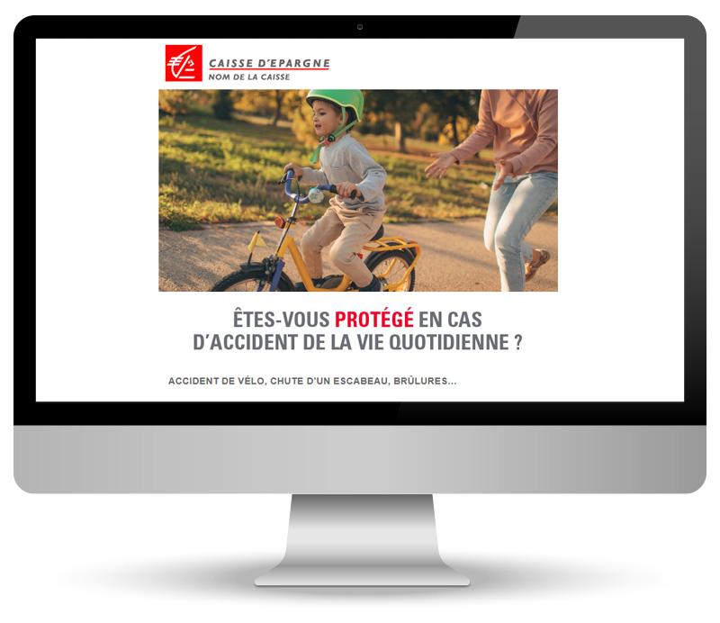 Campagne emailing pour Caisse d'Epargne